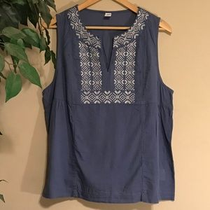 Old Navy Embroidered Swing Tank Top